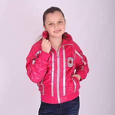 Детская демисезонная куртка для девочки BADIAN на флисе, № 2389, фото 3
