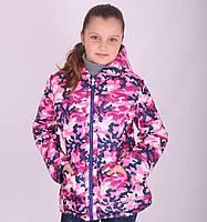 Детская демисезонная куртка для девочки Snow Image двухсторонняя, № 208