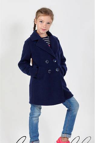 Пальто демисезонное кашемировое двубортное девочке, остались размер 128, фото 2