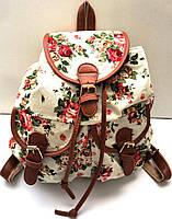 Рюкзак женский городской цветы