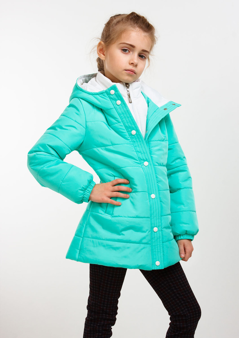 """Детская куртка демисезонная для девочки """"Канада"""" бордо, мята, т. синяя, чёрная, розовая"""
