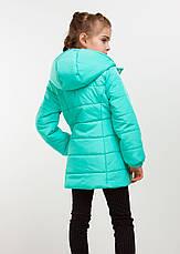 """Детская куртка демисезонная для девочки """"Канада"""" бордо, мята, т. синяя, чёрная, розовая , фото 2"""