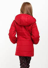 """Детская куртка демисезонная для девочки """"Канада"""" бордо, мята, т. синяя, чёрная, розовая , фото 3"""