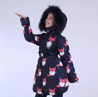 Дитяче зимове пальто для дівчинки BIKO&KANA 16501, фото 2