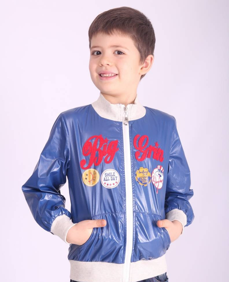 Ветровка детская для мальчика демисезонная х/б подкладка, 12048 | на рост от  98-130