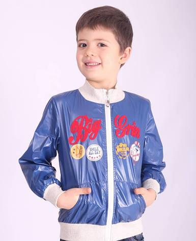 Ветровка детская для мальчика демисезонная х/б подкладка, 12048 | на рост от  98-130, фото 2