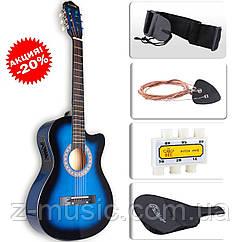 Электроакустическая гитара LAGRIMA (Чехол+Струны+Тюнер)