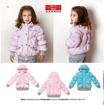 Детская демисезонная куртка для девочки на кулире Baby Line на рост 86-116, фото 2