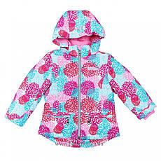 Детская демисезонная куртка для девочки на флисе  «Одуванчики» Baby Line на рост 92-110 (мембрана), фото 3
