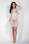 Пляжное платье Санибел пудра L-XL
