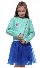 Детская косуха демисезонная для девочки 122-152, серебро и не только., фото 3