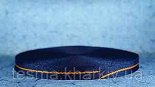 Лента киперная 20 мм синий/оранжевый/синий