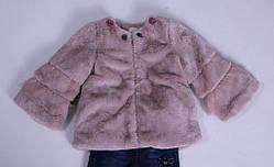 Детская демисезонная куртка для девочки плюшевая, в виде шубки, фото 3