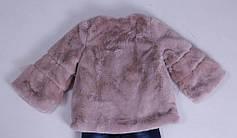 Детская демисезонная куртка для девочки плюшевая, в виде шубки, фото 2
