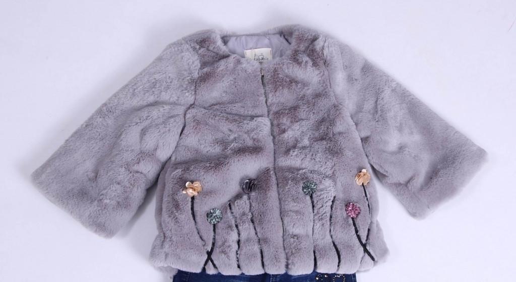 Детская демисезонная куртка для девочки плюшевая, в виде шубки для девочки