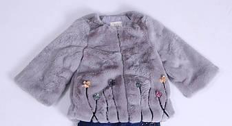 Детская демисезонная куртка для девочки плюшевая, в виде шубки для девочки , фото 2