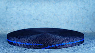 Лента киперная 20 мм синий/василёк/синий