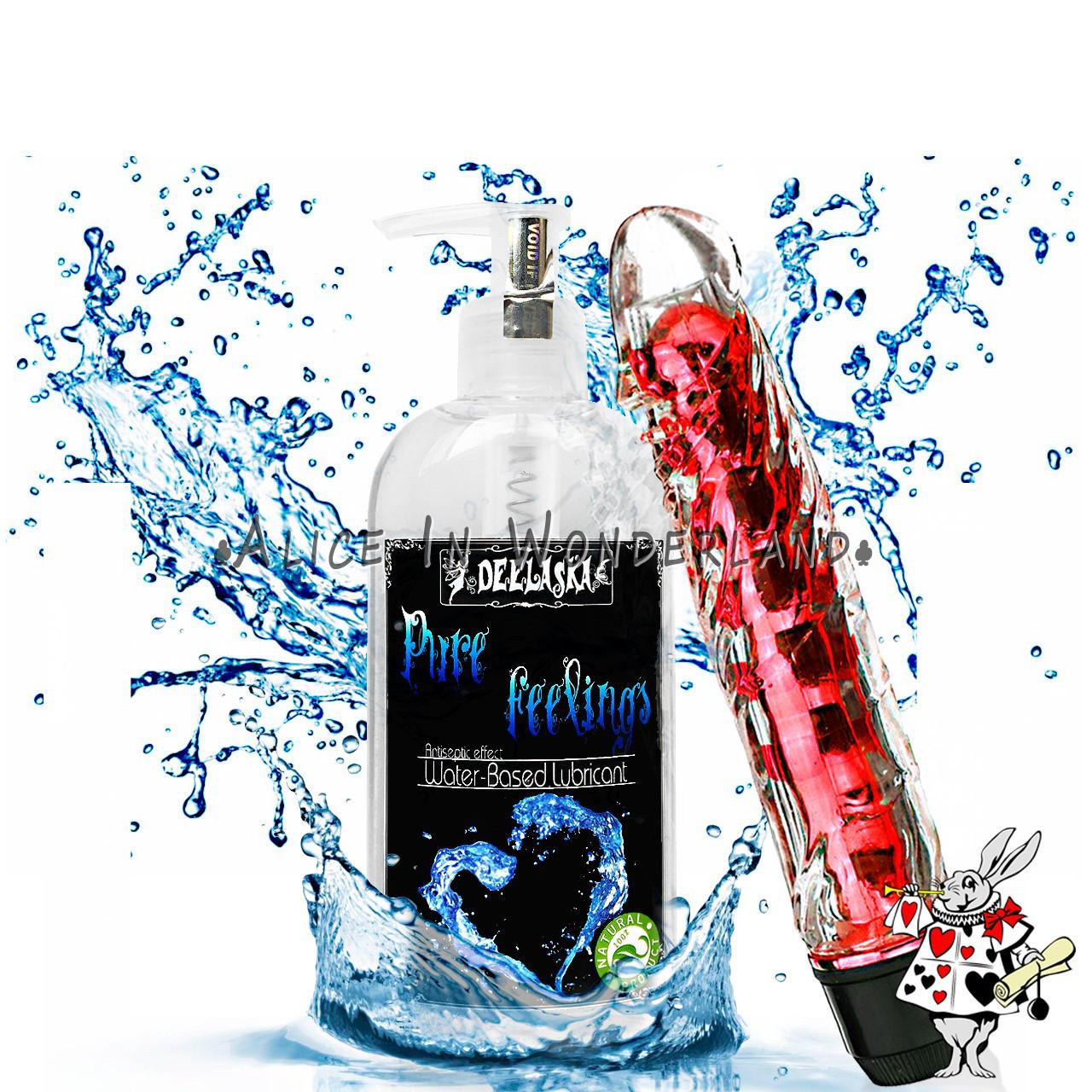 Вибратор гелиевый вагинальный вибраторы красный + Лубрикант на водной основе Оригинал Смазка с антисептиком