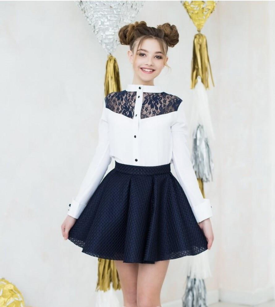Блуза школьная девочке к-4, 122-152