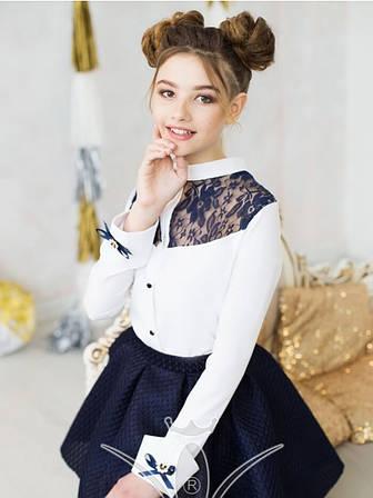 Блуза школьная девочке к-4, 122-152, фото 2
