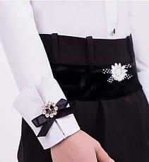 Блуза школьная девочке к-4, 122-152, фото 3