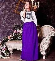 Вишите плаття Квіткове (габардин), фото 1