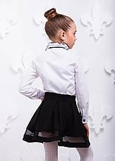 Рубашка школьная для девочки номер 5  с отделкой ,110-140, фото 3