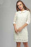 Белое шикарное нарядное платье