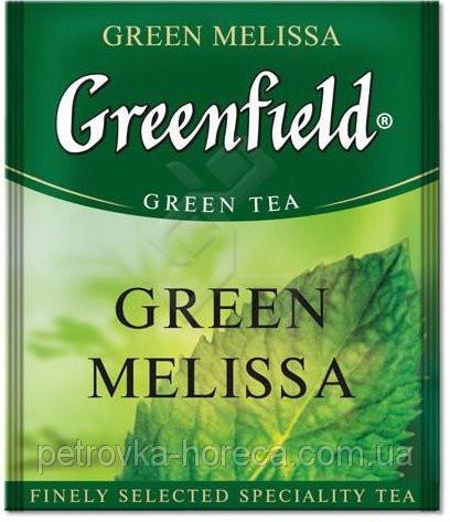 """Чай зелений в пакетиках  Greenfield """"Green Melissa"""" 100шт з мелисою"""