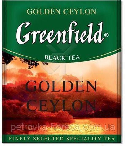 "Чай чорний в пакетиках  Greenfield ""Golden Ceylon"" 100шт"