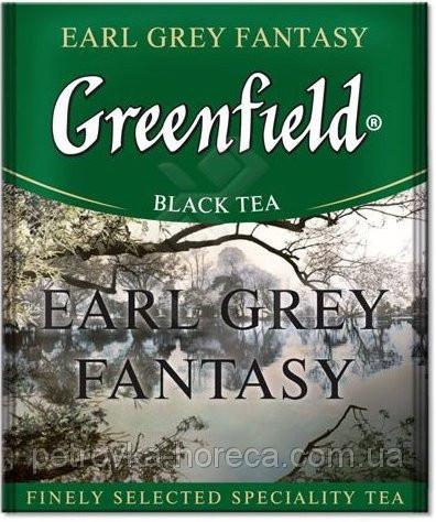"Чай чорний в пакетиках Greenfield ""Earl Grey Fantasy"" 100шт Бергамот"