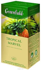 "Чай в пакетиках зелений Greenfield ""Tropical Marvel"" 25шт Ананас"