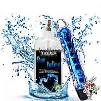 Гель -лубрикант без аромата 200 мл + мощный вибратор гелевый синего цвета