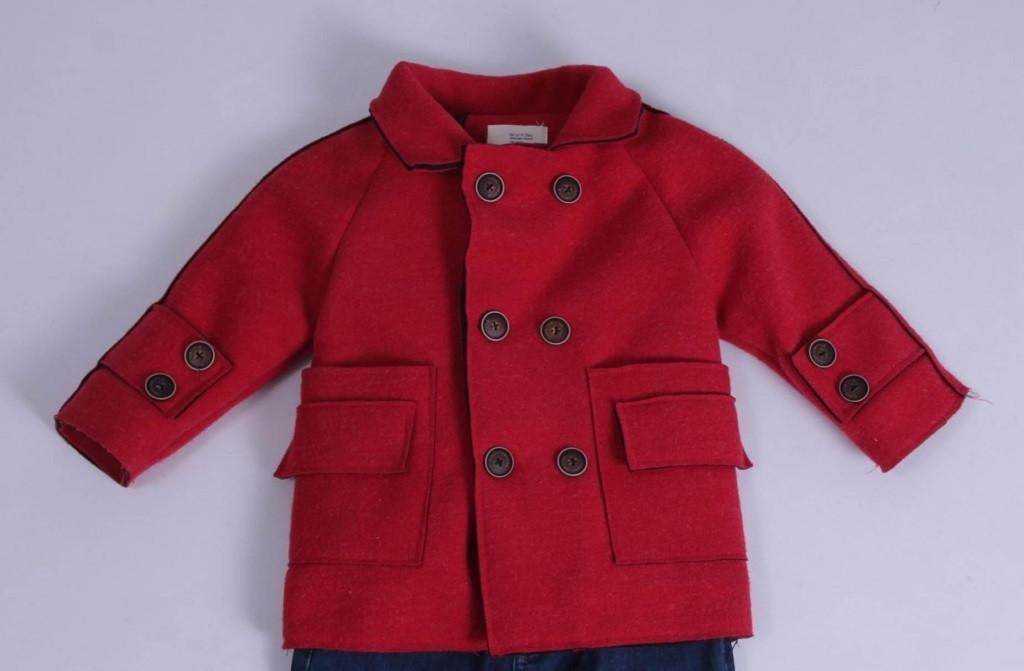 Демісезонне Пальто дитяче, кашемірове для хлопчиків від Ke Le Yi Dou 1223 | на зростання від 98-134
