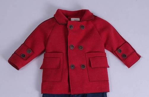 Демісезонне Пальто дитяче, кашемірове для хлопчиків від Ke Le Yi Dou 1223 | на зростання від 98-134, фото 2