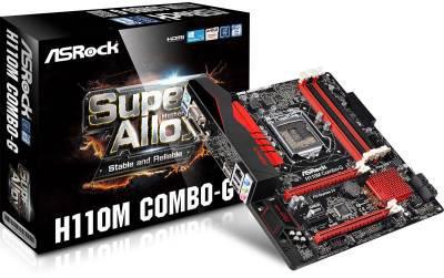 "Материнская плата ASRock H110M COMBO-G DDR3/DDR4 Socket 1151 ""Over-Stock "" Б/У"