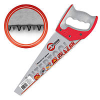 Ножівка по деревині 450 мм з гартованим зубом, потрійне заточування, 11 зуб./дюйм