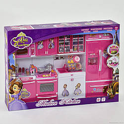 Кухня QF 26211детская для кукол,«София» (свет, звук) на батарейке, в коробкеРазмер упаковки:55 см × 10 см