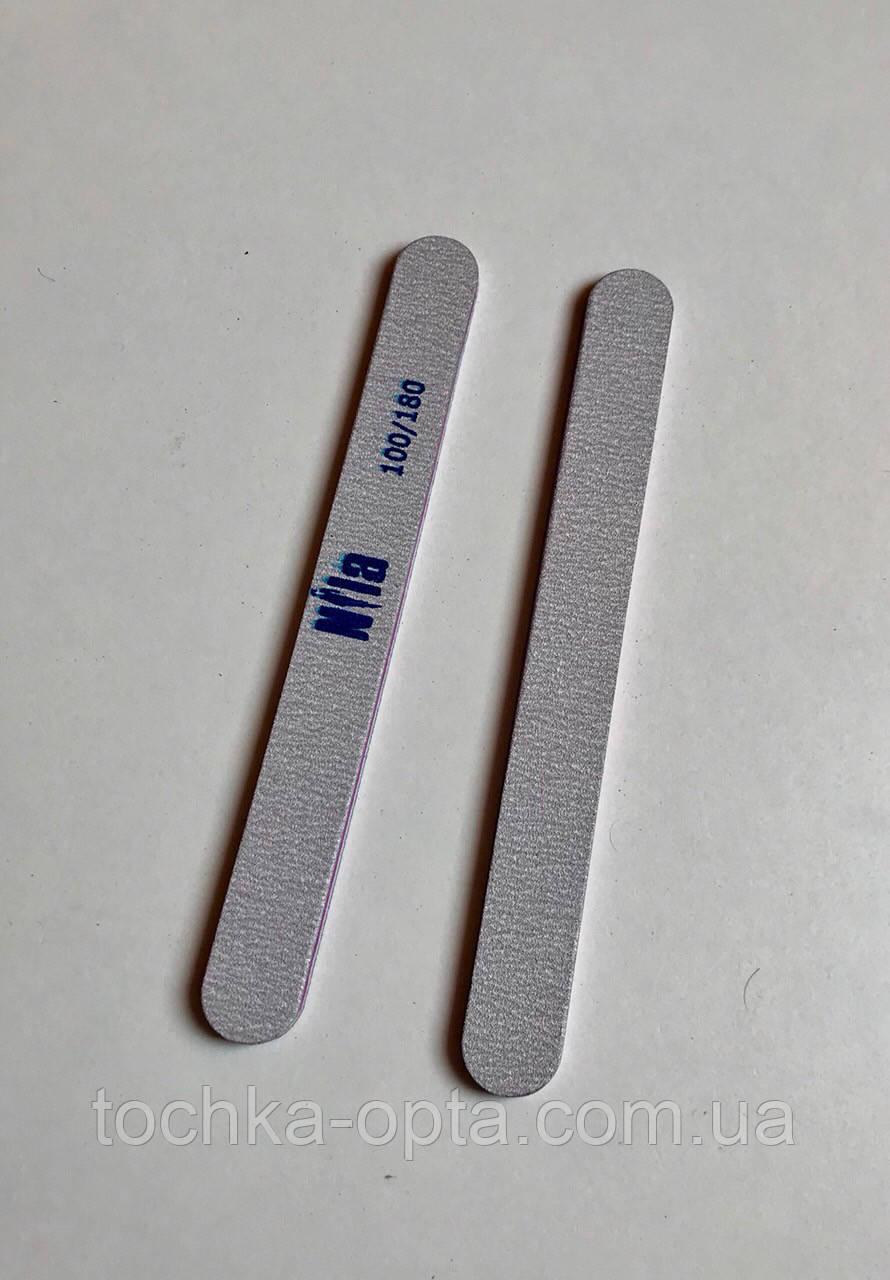 Пилочка для нігтів Nila 100/180 вузька сіра