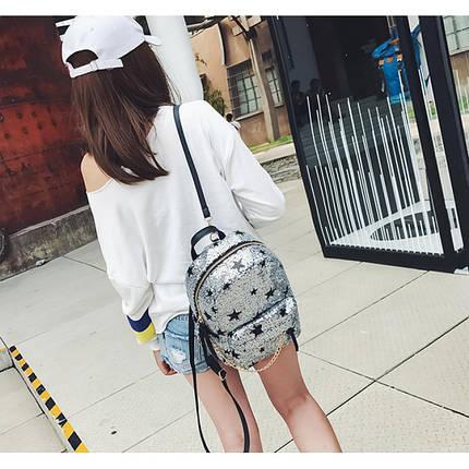 Рюкзак женский Hag Crystal серебряный, фото 2