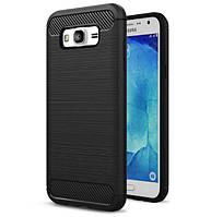 Чехол PRIMO Carbon Fiber Series для Samsung J7 2015 (SM-J700) - Black, фото 1