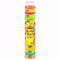 Набор пластилина для праздника из 10 мини-баночек в тубусе Play Doh Hasbro