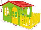 Детский игровой домик Garden House с террасой для детей складной, фото 5
