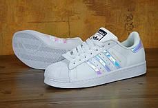 Женские кроссовки Adidas Superstar Iridescent GS White, Адидас Суперстар, фото 3