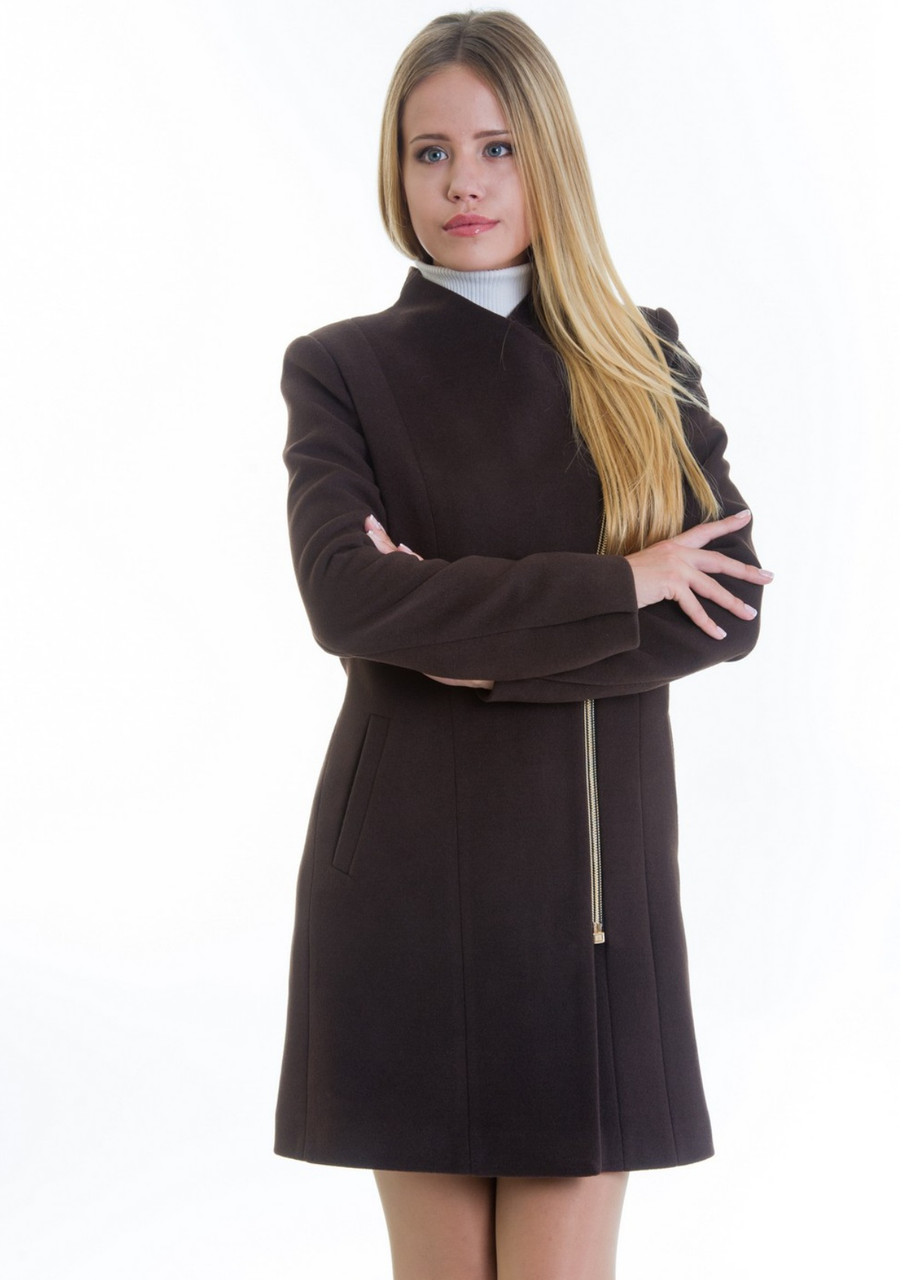 Пальто женское №12 (шоколад)