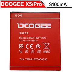Аккумулятор для Doogee X5 / X5s / X5 Pro батарея 3100