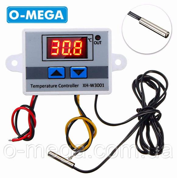 Цифровий Терморегулятор XH-W3001 12В (-50...+110) з порогом включення в 0.1 градус