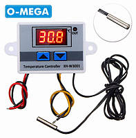 Терморегулятор цифровой XH-W3001 12В (-50...+110) с порогом включения в 0.1 градус для инкубатора