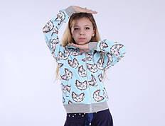 """Детская кофта для девочки """"Котёнок"""" 110-160"""