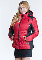 Куртка женская №15 (красный/чёрный)
